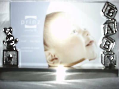 Baby Picture Frame Engravable Silverplate