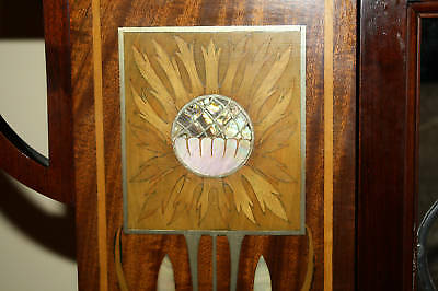 Magnificent 1900 English  Art Nouveau Inlaid Mother Of Pearl Cabinet 2