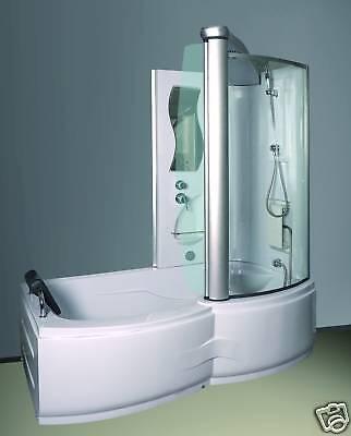 Designer Badewanne Dusch Kabine Duschtempel Kombination 2