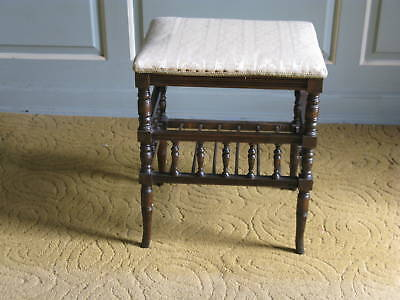 Victorian Oak Piano Stool 5