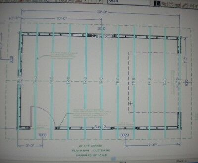 14 39 x 20 39 garage shop plans materials list blueprints for 18 x 20 garage plans