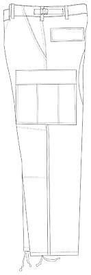 Woodland Camo BDU Uniform Pant - LARGE LONG -  Cotton Rip Stop - TRU-SPEC