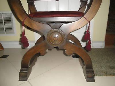 Antique Gothic Renaissance Revival Throne / Church Arm Chair 4