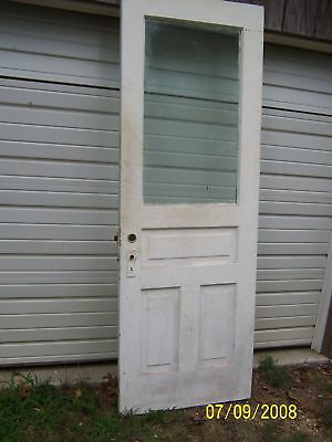 EXTERIOR ANTIQUE WOOD DOOR 30  x 83 2