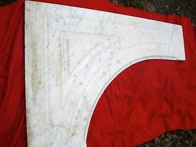 Antique CARRERRA MARBLE  Mantel 3