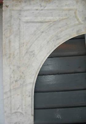 Antique CARRERRA MARBLE  Mantel 5
