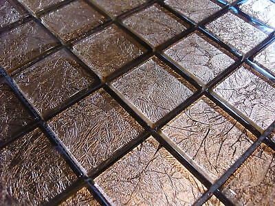 Glasmosaik Mosaik Fliesen Klarglas Metall GOLD 10C Metalloptik Bad Dusche • EUR 12,50 - PicClick DE