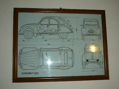 NEW technical drawing Citroen 2CV Acadiane Dyane AK250-400 Total of 4 A3 prints 2