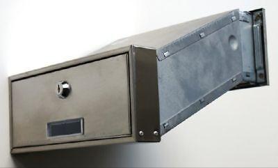 mauerdurchwurf briefkasten edelstahl v2a einbau eur 64 89 picclick de. Black Bedroom Furniture Sets. Home Design Ideas