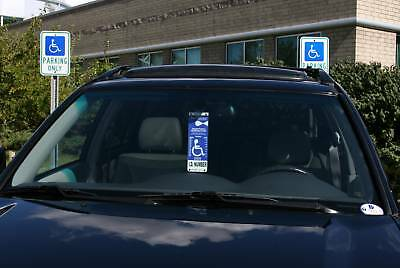 Mirortag Gold - Sturdy Handicap Parking Tag Holder & Protector. Easy On & Off 7