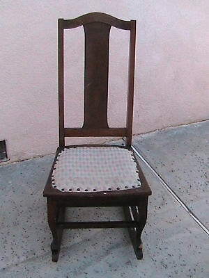 Antique Child's Rocking Chair The Philadelphia Chair Co 2