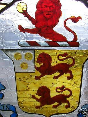 Antique Leaded Stained Glass Firescreen 2