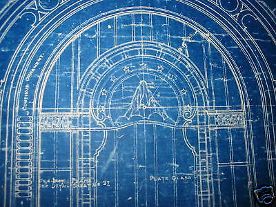 1925 PARAMOUNT PICTURES Theater Blueprint NEW YORK CITY One of a kind!!!!!!! 5