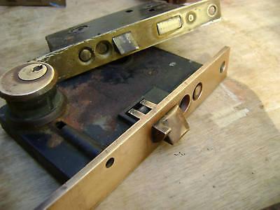 Antique brass locks Windsor  Exterior mortise  1800 3