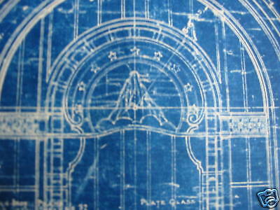 1925 PARAMOUNT PICTURES Theater Blueprint NEW YORK CITY One of a kind!!!!!!! 9