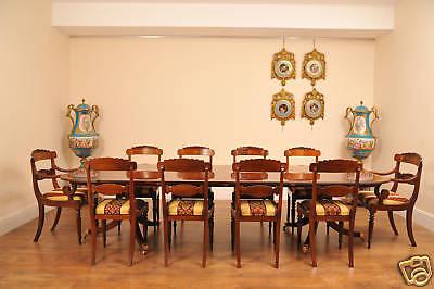 10 English Regency Walnut Inlay Dining Chairs 12