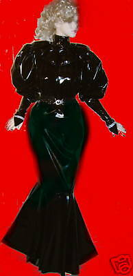 Lackkleid,Godetkleid,lang,Crossdresser,Fetisch, Diva,Maiddress,Godetdress Vinyl 5