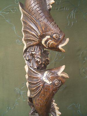 100 Cm Fisch Fische Holz Holzfische Schnitzerei Figur