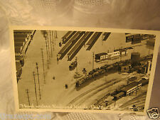 Vanport Ore. Flood Railroad yards Train steam engine RPPC Photo Vintage Postcard