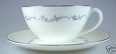"""Royal Doulton Coronet H4947 Cup and Saucer Set 3 7/8"""" w"""