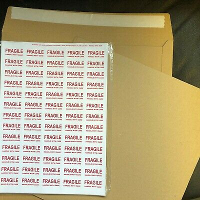 "10 7"" Strongest Brown Record Mailers + 20 7"" Stiffeners + Fragile Labels"