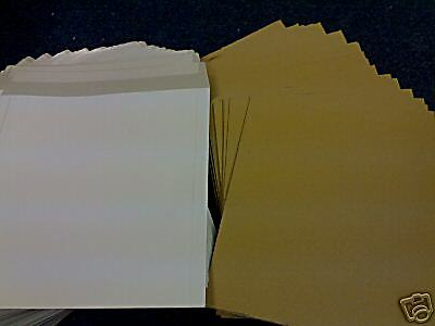 "200 12"" White Peel & Seal Record Mailers +200 Stiffeners + 24H Del"