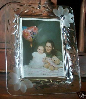 LOT - 2 Princess House PICTURE FRAME 3 1/2 x 5 crystal