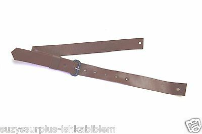 "US Original Dress Brown Leather Garrison Cap Strap 15 5/8""L x 11/16""W each H2102"