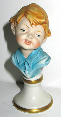 "VINTAGE CAPODIMONTE CHARACTER DOLL BOY 4"" BUST CORTESE"