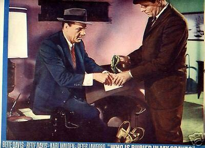 Lobby Card 1964 WHO IS BURIED GRAVE Malden Lawford cash