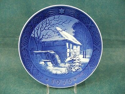 Royal Copenhagen 1976 Christmas Plate Water Mill