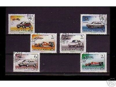 0811++Hongrie   Serie Timbres Voitures