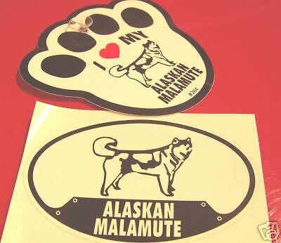 Malamute- Decal & Window Pawprint W Suction Cup Set