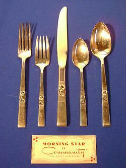 Oneida Community Silver Plate Morning Star 5 Pc Setting