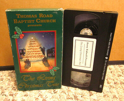 THOMAS ROAD BAPTIST CHURCH Living Christmas Tree VHS Mike & Linda Tait 1993 - THOMAS ROAD BAPTIST - The First 25 Years 33rpm Vinyl Double LP Jerry