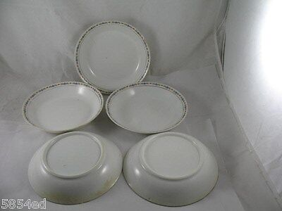 5 Vintage O.P.Co Syracuse Soup Bowls 7.5in