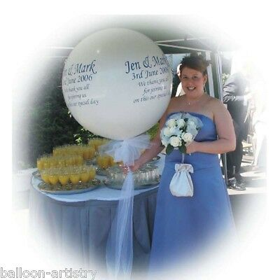 Giant 3ft Personalised Printed Wedding Venue Entrance Balloon Decoration