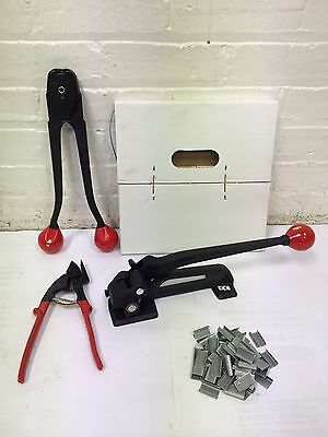 "1/2"" Steel Strapping Kit 400 ft Strap 250 Seals + Tools"