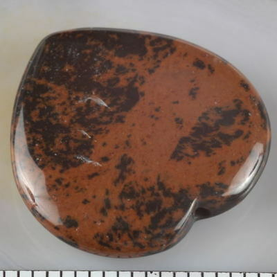 Half Drilled Natural MAHOGANY OBSIDIAN HEART Component or PENDANT ~ 30x30mm