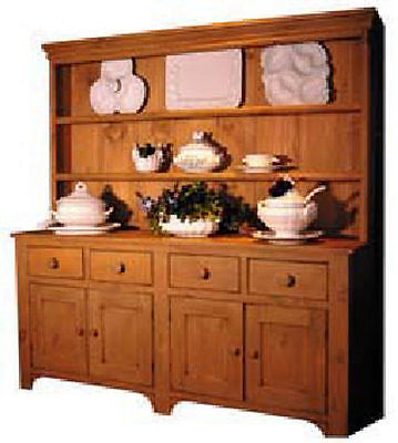 6 Foot Country China Hutch 25 Paints Stains Distress Levels Antique Reproduction