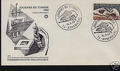 FRANCE 1966 STAMP DAY FDC