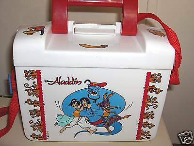 Aladdin`Plastic Lunchbox`Rare Style-On Sale->Free Ship To US