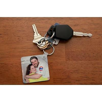 """Personalize your own Photo Key Chain (2 1/4"""" Square)"""