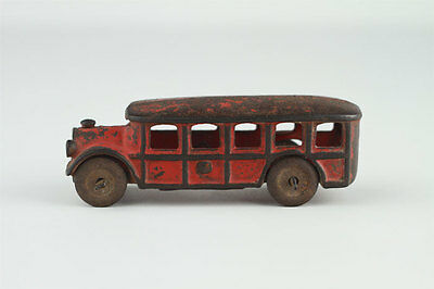 Vintage Arcade Cast Iron Red Bus 1558 Toy Car