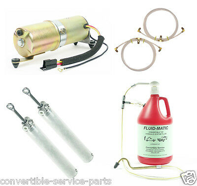 1968-1972 GM Mid Size Convertible Top System Cylinders Hoses Motor Kit Fill Tool