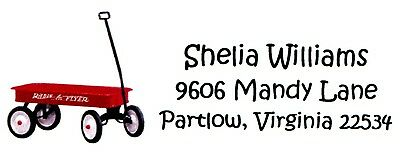 Little Red Wagon Address labels