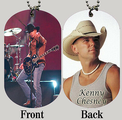 Kenny Chesney Dog Tag with Beaded Chain