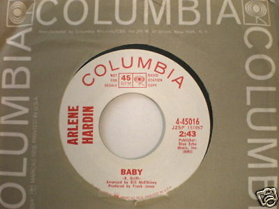 Arlene Hardin Columbia 45016 My Friend and Baby PROMO