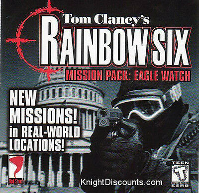 Rainbow Six EAGLE WATCH Expansion - Vintage Rare Shooter PC Game NEW Sealed