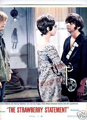 Lobby Card 1970 STAWBERRY STATEMENT rare cult hippies